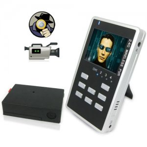 2.5 Inch Cigarette Box Covert Wireless Camera + MP4 Receiver